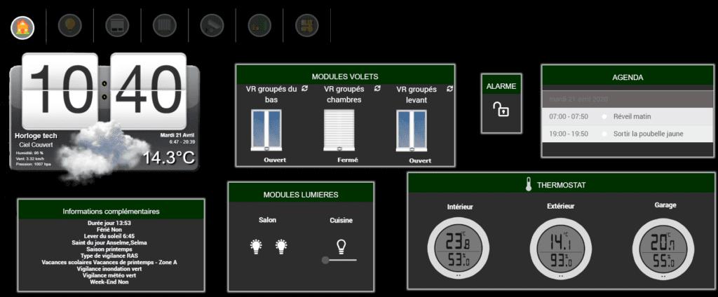 Connecter Jeedom avec un Thermostat Nest un portier vidéo Doorbird et une serrure connectée Nuki
